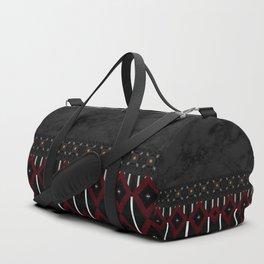Elegant Satin Ribbon Marble Diamond Pattern Duffle Bag
