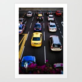 cars and traffic Art Print