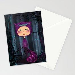 alice purple cat Stationery Cards