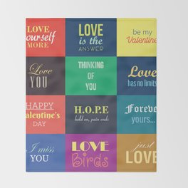love messages Throw Blanket