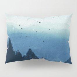 Blue Valmalenco - Misty Blue Mountains Pillow Sham