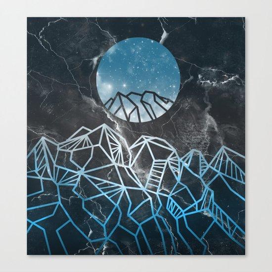 galaxy landscape 2 Canvas Print