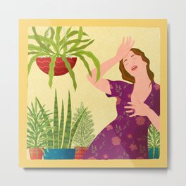 Swoon (This Greenhouse is Hot) Metal Print
