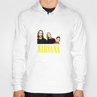 nirvana Hoodies featuring Nirvana Band by Rothko