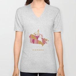 Canada map Unisex V-Neck
