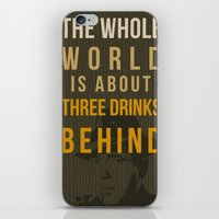 actor iPhone & iPod Skins featuring movie actor quote by Larsson Stevensem