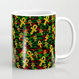 Red Black Green Ankh Coffee Mug