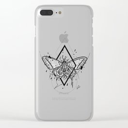 Butterfly Handmade Drawing, Made in pencil and ink, Tattoo Sketch, Tattoo Flash, Blackwork Clear iPhone Case