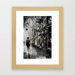 down CHINATOWN Framed Art Print