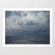 Storm over Ocean, Seascape, North Carolina Art Print