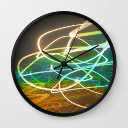 Rainbow Light Graffiti Wall Clock