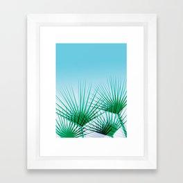 Airhead - memphis throwback retro vintage ombre blue palm springs socal california dreamer pop art Framed Art Print