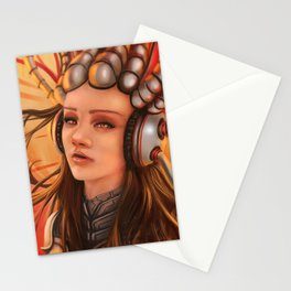 Cybernetic Girl Stationery Cards