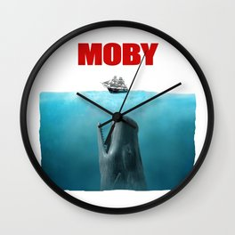 Jaws poster Moby Wall Clock