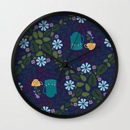 Tea Bloom Wall Clock