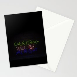 Everything in Neon Stationery Cards