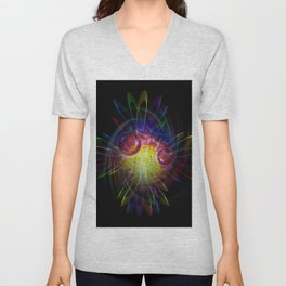 Abstract Perfektion 89 Unisex V-Neck