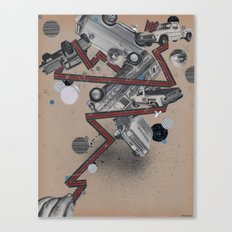 vans,trucks & elvis Canvas Print