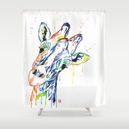 Giraffe - Curious Shower Curtain