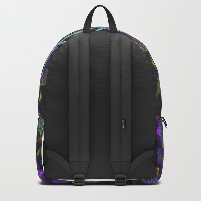 Purple Yin Yang Sacred Geometry Fractals Backpack