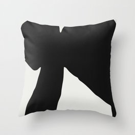 Black Coat Throw Pillow