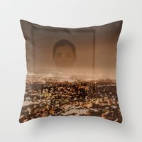 no face Throw Pillows featuring Face by Sébastien BOUVIER