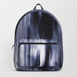 Abstract artwork #23/1 - Ocean waves - Sea waves - Dark Blue Waters - Indigo Abstract Painting Backpack