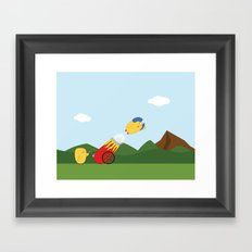 Flying Lessons Framed Art Print
