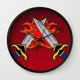 Flaming Daggers, A Darker Shade of Magic, Delilah Bard Wall Clock