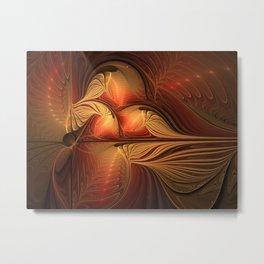 The Guardians Of Light, Abstract Fractal Art Metal Print