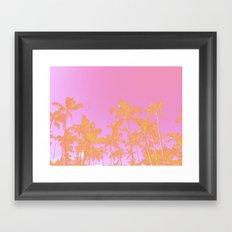 Pink Pastel palms Framed Art Print