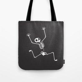 Skeleton on the run Tote Bag