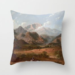 View of Pike's Peak Throw Pillow
