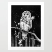 hedwig Art Prints featuring Hedwig by Tim Van Den Eynde