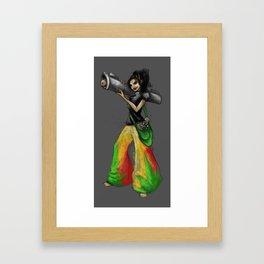 Kittie Launcher Framed Art Print