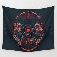 samurai Wall Tapestries featuring Samurai by Defeat Studio