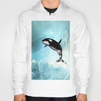 orca Hoodies featuring The orca by nicky2342