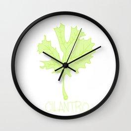 Cilantro Leaf Wall Clock