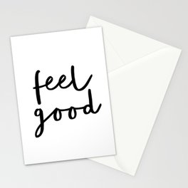 Fell Good black and white contemporary minimalism typography design home wall decor bedroom Stationery Cards