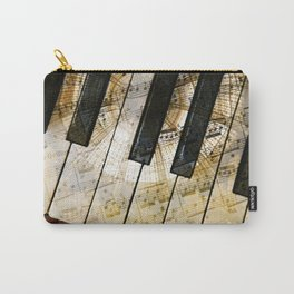 Piano Keys Music Collage abstract Carry-All Pouch