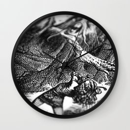Alice in Wonderland - Attack of the Jabberwocky Wall Clock