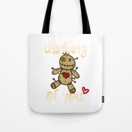 Thinking of you I Wicca Voodoo Doll I Scary Karma  product Tote Bag
