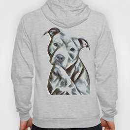 Pit Bull lover, a portrait of a beautiful pit bull puppy Hoody
