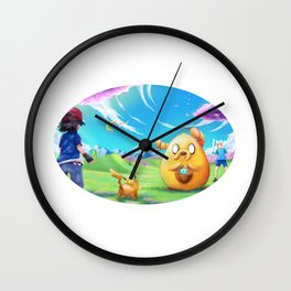 Ash meets Finn and Jake Wall Clock