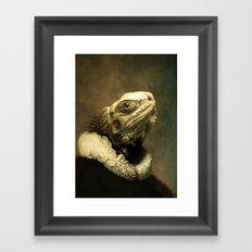 Sir Dragon Framed Art Print