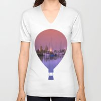 marina V-neck T-shirts featuring Marina by Laake-Photos