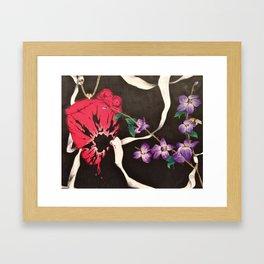Shattered Heart Framed Art Print
