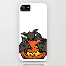 Bat and Jack O'Lantern | Halloween Series | DopeyArt iPhone Case