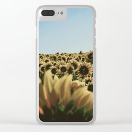 vintage sunflowers Clear iPhone Case