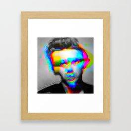 JD Glitch Framed Art Print